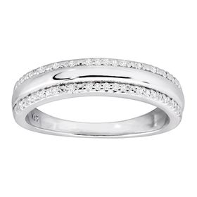 1/10 ct Diamond Wedding Band Ring