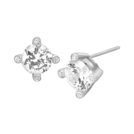 Stud Earrings with Cubic Zirconia
