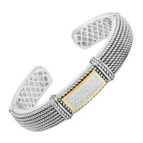 1/4 ct Diamond Roped Cuff Bracelet
