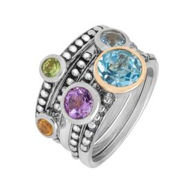 2 1/2 ct Multi Stone Stackable Rings