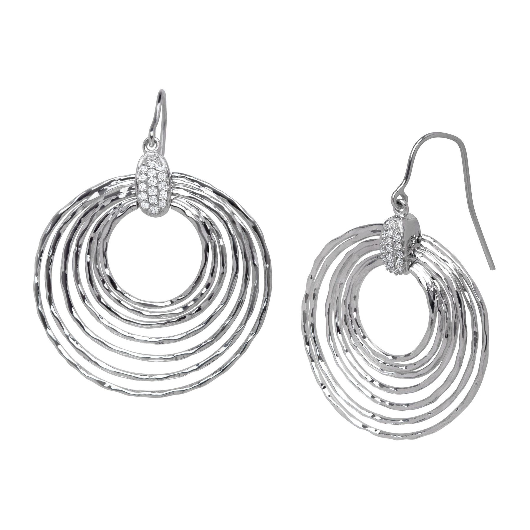 earrings circle circular products drop eye open tiger
