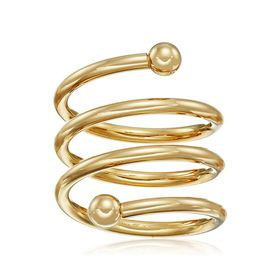 Adjustable Spiral Ring
