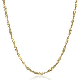 Solid Singapore Chain Necklace