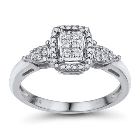 1/10 ct Diamond Composite Engagement Ring