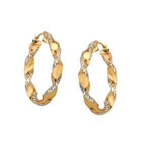 30mm Twist Hoop Earrings