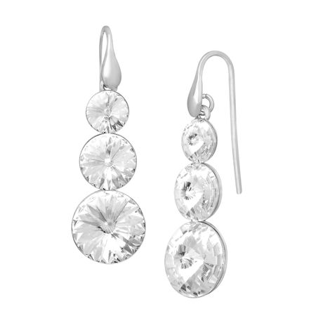 Triple Drop Earrings with Swarovski Crystals