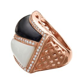 Gaeta Ring with Cubic Zirconia