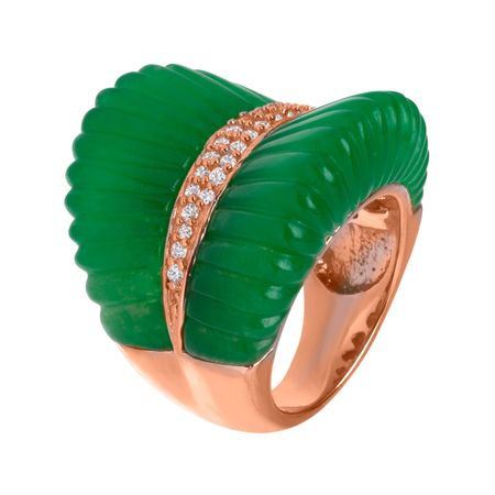 Puglia Ring with Cubic Zirconia