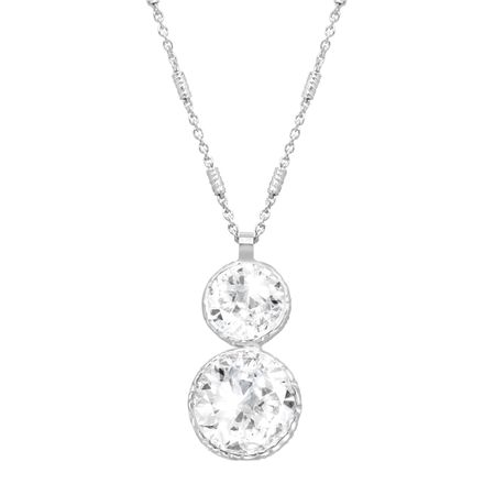 d0c4c8fbd2d Crystaluxe Double Drop Pendant with Swarovski Crystals in Sterling ...