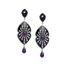 Amethyst Energy Star Earrings