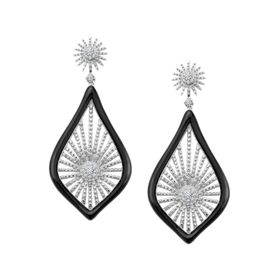 Morning Star Earrings with Cubic Zirconia