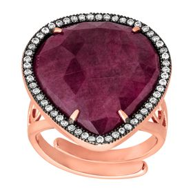 Ruby & Cubic Zirconia Ring