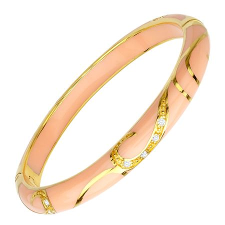 Peach Flourish Bangle Bracelet