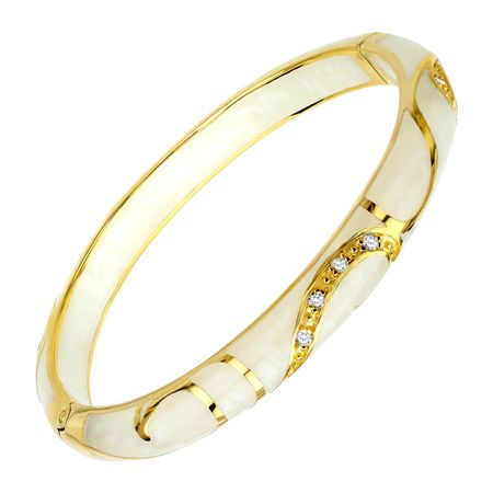 Cream Flourish Bangle Bracelet