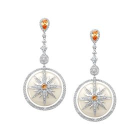Twinkle Star Earrings with Cubic Zirconia