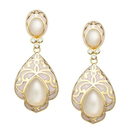 Moonstone Baroque Earrings