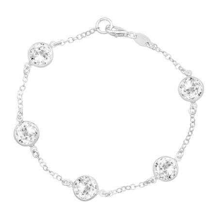 Station Bracelet With Swarovski Crystals