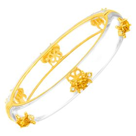 Fleur De Lis Bangle with Citrine