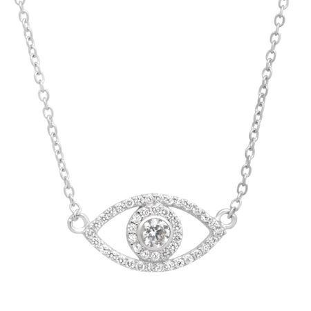 Evil Eye Necklace with Cubic Zirconia