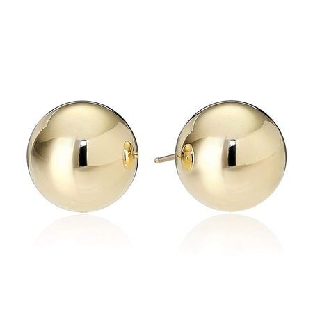 9 mm Ball Stud Earrings, Yellow