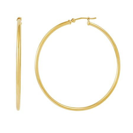 50 mm Classic Tube Hoop Earrings