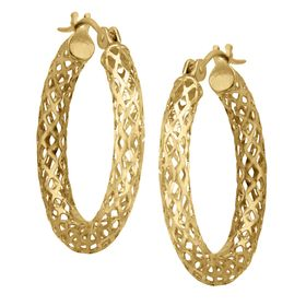 Openwork Tube Hoop Earrings