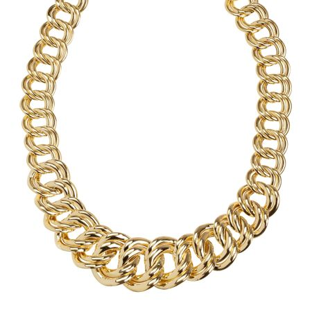 Graduated Double Link Chain Necklace