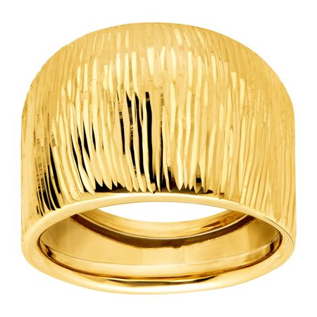 Ribbed Wide Dome Ring