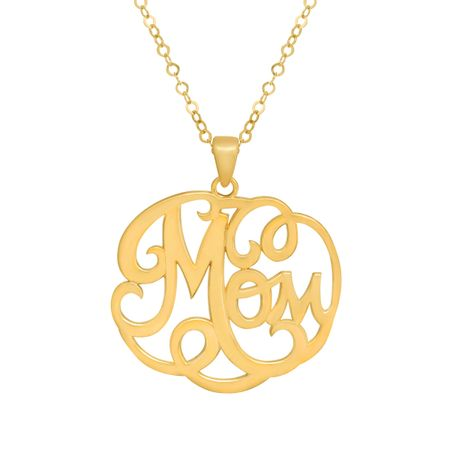 Filigree 'Mom' Pendant
