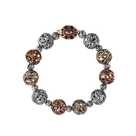 Mixed Metal Beaded Bracelet