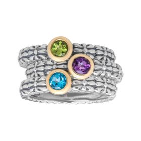 3/4 ct Multi-Stone Stackable Ring Set
