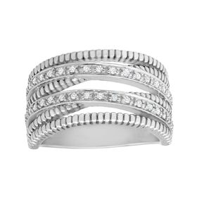 1/6 ct Diamond Banded Ring