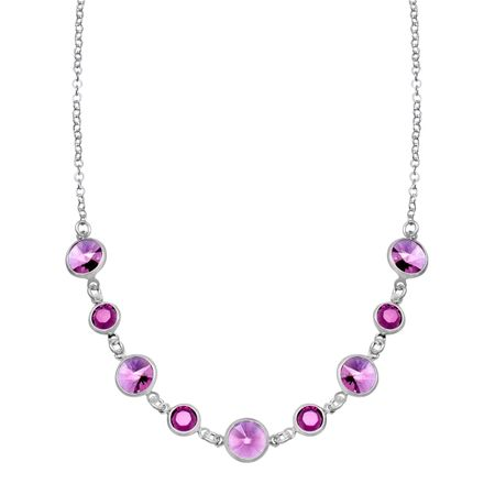 Necklace with Purple Swarovski Crystal