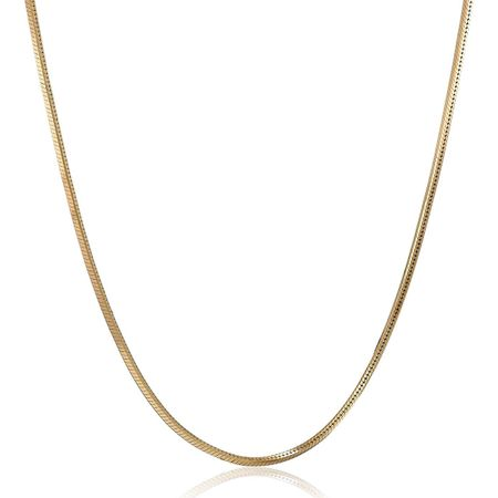 Four-Sided Snake Chain Necklace, 20