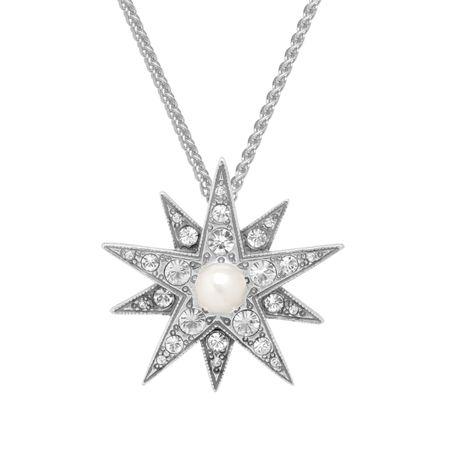 520d94056e7 Van Kempen Victorian Simulated Pearl Star Pendant with Swarovski ...