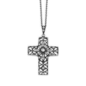 Victorian Cross Pendant with Swarovski Crystals