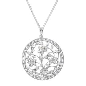 Art Deco Medallion Pendant with Swarovski Crystals