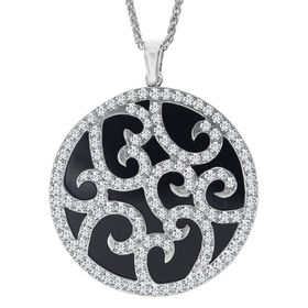 Art Deco Medallion with Swarovski Crystals