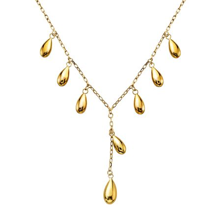 Eternity Gold Teardrop Necklace in 10K Gold