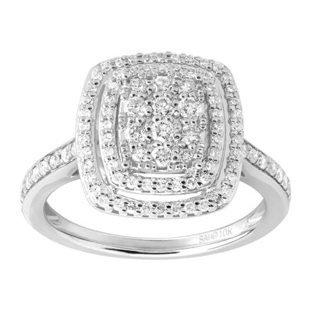 1/2 ct Diamond Cushion Halo Ring