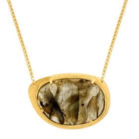 18 ct Labradorite Plate Necklace