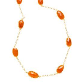 39 ct Carnelian Station Necklace