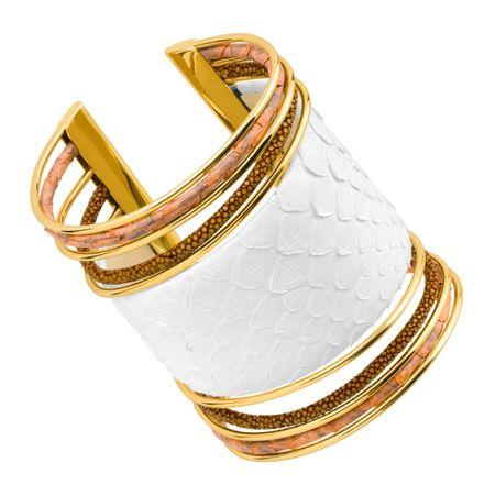 ccf2e8dfb Cristina Sabatini Large Cobra Cuff Bracelet with Genuine Stingray ...