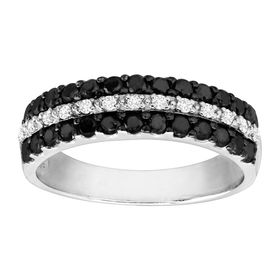 3/4 ct Black & White Diamond Band Ring
