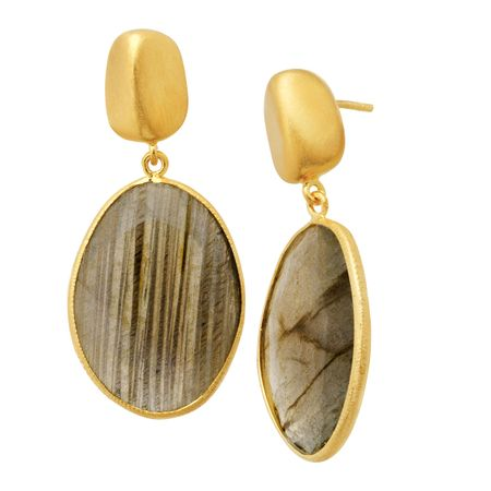 24 ct Labradorite Drop Earrings
