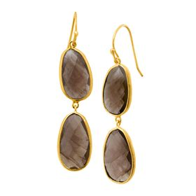 17 ct Smoky Quartz Drop Earrings