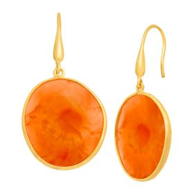 27 ct Carnelian Drop Earrings