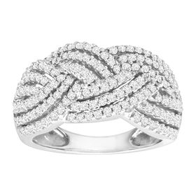 1 ct Diamond Braided Band Ring
