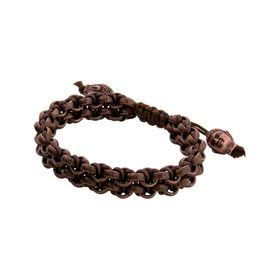 Brown Two Row Bracelet