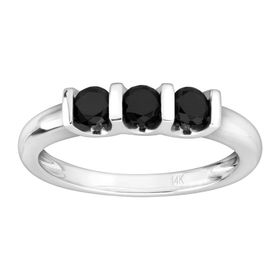 1/2 ct Black Diamond Band Ring